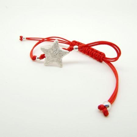 Asterina Bracelet with rayon thread