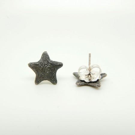 Asterina Silver Button Earrings