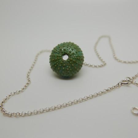 Colgante hilo de plata verde